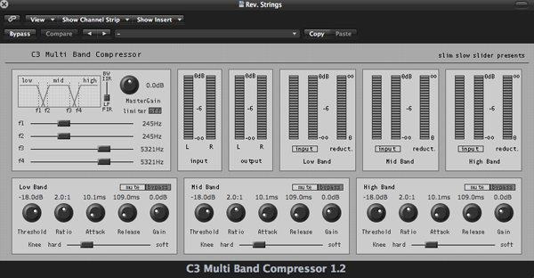 Screenshot of the C3 Multi-band Compressor