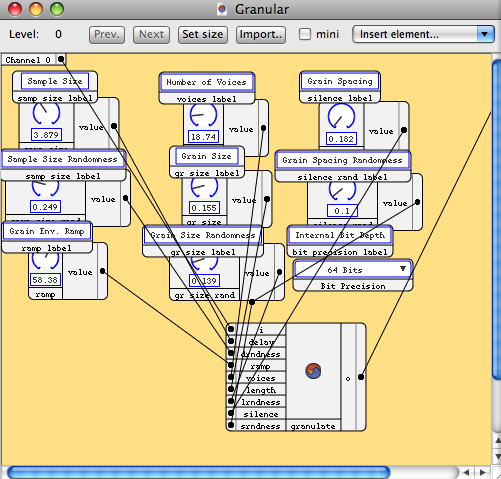 Screenshot of the SonicBirth plugin development software